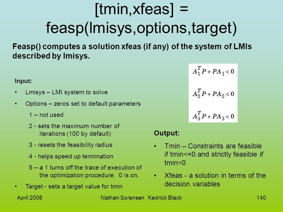 [tmin,xfeas] = feasp(lmisys,options,target)